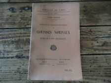 ETUDES FORMATION EMPLOI COMPOSES NOMINAUX LATIN ARCHAIQUE 1912 A. GRENIER