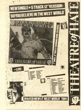 """6/2/82PN16 SINGLE ADVERT 7X5"""" THEATRE OF HATE, DO YOU BELIEVE IN THE WEST WORLD"""