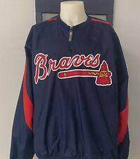 Atlanta Braves Majestic Authentic Collection Men's 1/4 Zip Jacket Sz.XL