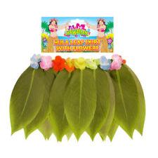 Ladies Hawaiian Hula Girl Grass Leaf Skirt Fancy Dress Costume Outfit Beach