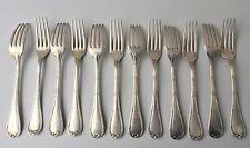 Christofle rubans, 12 fourchettes de table en métal argenté, bon état, 20,5cm