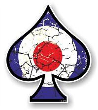 Ace of spades avec effet vieilli raf cocarde mod cible vinyle voiture casque autocollant