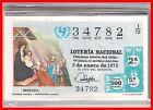 AÑO COMPLETO 1972 LOTERIA NACIONAL DEL SABADO 40 DECIMOS,