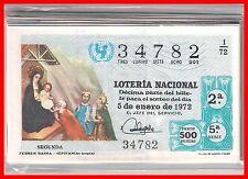 AÑO COMPLETO 1972 LOTERIA NACIONAL DEL SABADO 40 DECIMOS