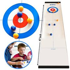Tabletop Curling Game Play Family Kids Children Fun Compact Indoor Outdoor