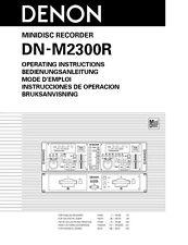 Denon DN-M2300R Minidisc Recorder Owners Manual