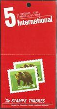 Canada sc#1178b Wildlife - Mammals : Grizzly Bear, Booklet Bk105c, Mint-Nh