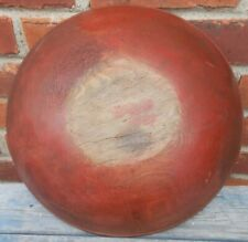 Good Antique Red Painted Round Chopping Bowl