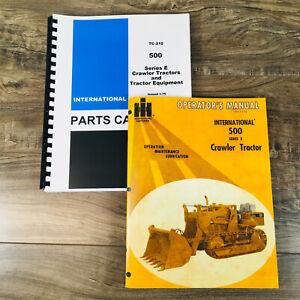 INTERNATIONAL 500E CRAWLER TRACTOR PARTS OPERATORS MANUAL SET BOOK 500 Series E