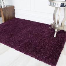 NEW Plum Purple Heather Dark Shaggy Area Rug for Living Room House Floor Large