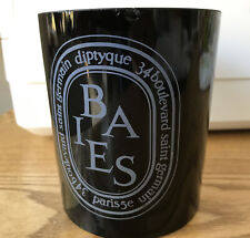 Empty Diptyque Candle Jar - Large 300g Baies - Black - Used
