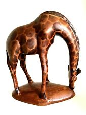 African Giraffe Vintage Hand Carved Wooden Art Figurines 4.5 inches Tall