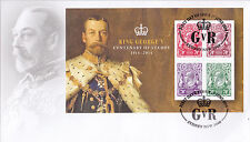 2014 King George V Centenary of Stamps (Mini Sheet) FDC - Sydney NSW 2000 PMK