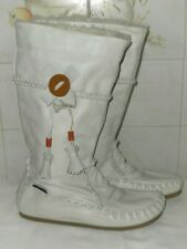 Bronx  White Wool Lined Boots - Size 40 UK 7
