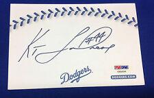 Ken Landreaux signed Dodgers.com Card PSA/DNA Cert# Y95656