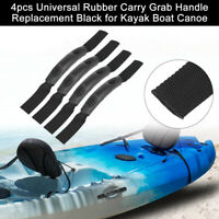 4pcs Universal Rubber Carry Grab Handle Replacement for Kayak Boat Canoe