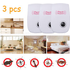 3X Ultrasonic Anti Pest Mosquito Mouse Cockroach Repeller Pest Repeller Control