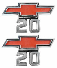 1967 1968 Chevy Pick Up Truck 20 Front Fender Emblem 20 Pair 1969 Van