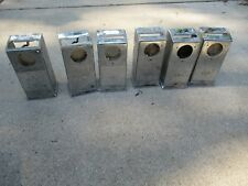 3 slot payphone payphone    Antique pay phone upper housing