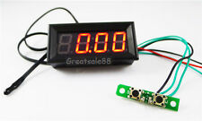 "0.56"" DC12V/24V Digital thermometer Car Time/Voltage/Temp 3in1 Panel Meter Clock"