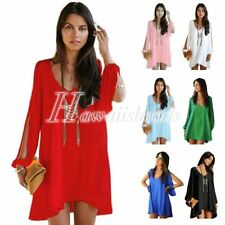 Chiffon Shift Above Knee, Mini Dresses