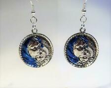 Cg4848.Silver Plated Madonna & Child Earrings - Free Uk P&P