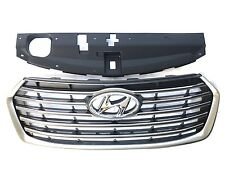 New Santa Fe 2017-2018-2019 7 Seats Front Bumper Upper Grille With Sight Shield