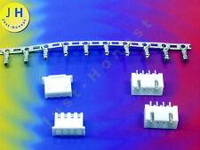 KIT 2x BUCHSE + STECKER 4 polig+ CRIMPKONTAKTE 2.54mm PCB Gerade #A1751
