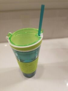NEW without BOX Snackeez 2 In 1 Drink And Snack Cup Blue And Green As Seen On TV