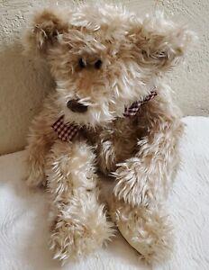 """1995 Soft Classics 14"""" Shag Teddy Bear Stuffed Animal Plushy"""