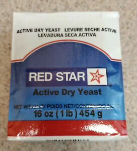 Red Star 1 lb Active Dry Yeast-Vacuum Sealed -Cake, Dough, Bread, Bakers, KOSHER