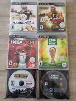 PS3 Playstation 3Sports Games Lot of 6: Fifa, Madden, NBA2k, MLB, UFC, Nascar,