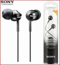 SONY MDR-EX110LP BLACK Deep Bass In-Ear Stereo Headphones Original /Brand New