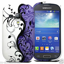 FLORAL LILAC SILICONE GEL CASE COVER SKIN FOR SAMSUNG Galaxy Trend Plus S7580