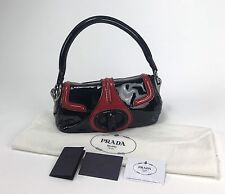 Bag Borsa Prada Bag Woman Model BR4593 Tote Bag Bicolour Black and Red