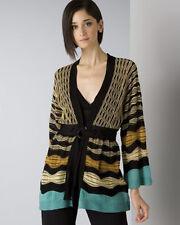 100%auth  M Missoni Wave Stripe Kimono Cardigan sz 38/2
