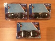 New listing 3 pairs of Intex Swim Goggles Ages 8+. Black/Pink Polycarbonate Uv Protection