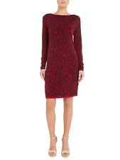 MICHAEL KORS ~Size LARGE~ Lace Print Soft Jersey Shift Dress Long Sleeve NEW!