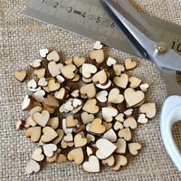 100pcs Fashion Rustic Wood Wooden Love Heart Wedding Table Scatter Decor Crafts
