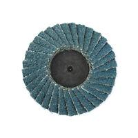 15Pcs 50mm 2Inch Flap Disc Sanding Disc R Roloc Twist Lock Grinding Wheel 80Grit