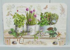 Platzdeckchen Kräuter Töpfe Vintage Küche Tischdeko Kunststoff Mediterran 45x30