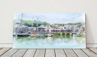 Padstow harbour canvas print Cornwall framed picture