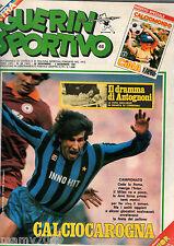 GUERIN SPORTIVO=N°48 1981=CALCIOMONDO SPECIALE CINA=NORDHAL=SCHIAFFINO