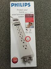 Philips Surge Protector 6ft power cord 1260 joules