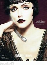 PUBLICITE ADVERTISING 126  2006   Boucheron montre REFLET Louise Brooks