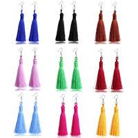 AM_ Fashion Women Bohemian Long Dangle Drop Tassel Hook Earrings Party Jewelry L