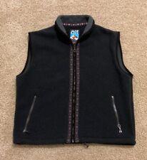 Vintage Men's Alf Polartec Fleece Vest Jacquard Trim Size XL USA Aztec