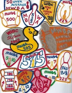 Vintage MILWAUKEE WOMENS BOWLING ASSOCIATION & WIBC PATCH Lot of 17 MWBA 70s 80s
