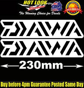 Daiwa Fishing Boat Stickers Suit 4X4 Caravan Camping Tandem Trailer Fridge Kayak