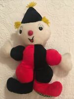 """Superior Toy and Novelty 15"""" Plush Red Black  Clown Carnival Prize Vintage"""